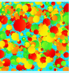 Yellow red green turquoise watercolor vector