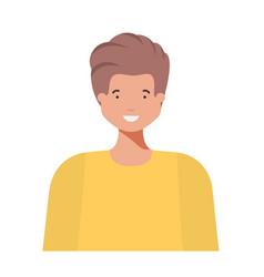 young man avatar character vector image