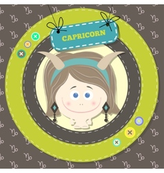 Zodiac signs collection horoscope - capricorn vector image