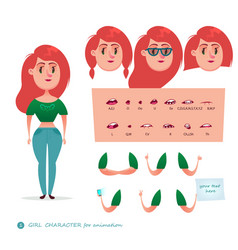 character student woman vector image