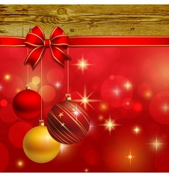 Christmas ornament background card vector image