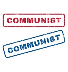 Communist Rubber Stamps vector image vector image