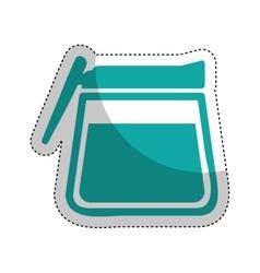 kitchen teapot isolated icon vector image