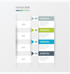 timeline green blue gray color vector image vector image
