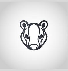badger logo icon design vector image