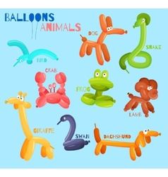Balloon animals isolated vector image