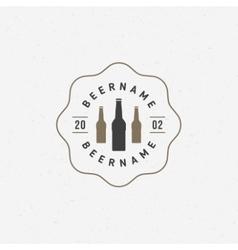 Beer bottle logo or badge design element vector image