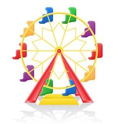 ferris wheel 01 vector image