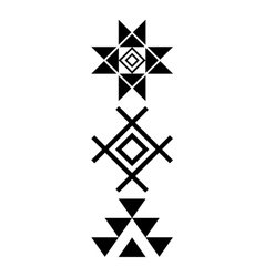 Navajo print Aztec pattern Tribal design Native vector image vector image