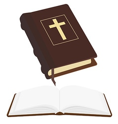 Opened and closed bible vector image vector image