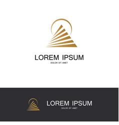 round pyramid company logo vector image vector image
