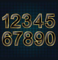 set golden numbers vector image