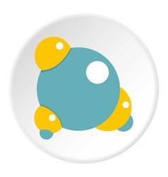 blue molecule icon circle vector image