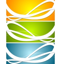Bright abstract wavy banners vector image vector image
