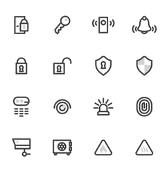 icons security and home alarm system lock vector image vector image