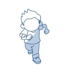 Little cute boy cartoon adorable image vector