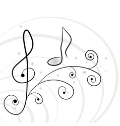 Music background A illuustration vector image vector image