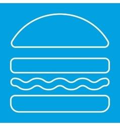 Burger thin line icon vector image