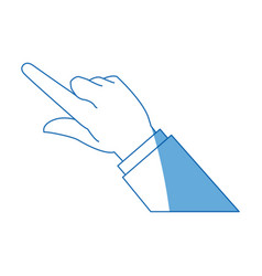 Business man finger hand pointing image vector