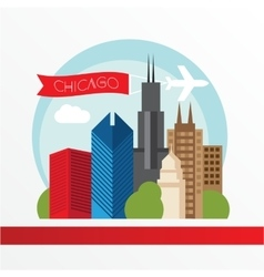 Chicago detailed silhouette Trendy vector image