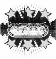 grunge disco banner vector image vector image
