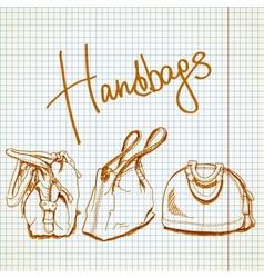 Sketch handbags vector