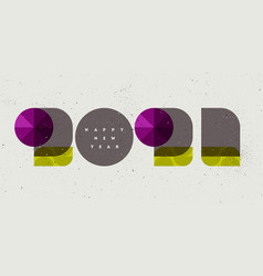 2021 numbers decorated with purple gemstones vector image