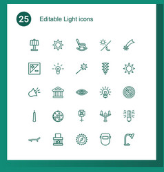 25 light icons vector