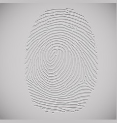 3d fingerprint vector image