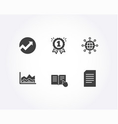 audit read instruction and trade infochart icons vector image