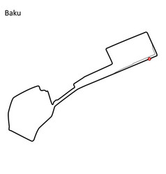 Baku city circuit vector