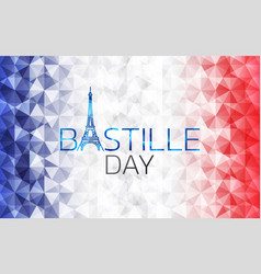 bastille day logo icon design vector image
