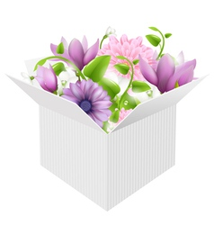 Box Bouquet vector image vector image