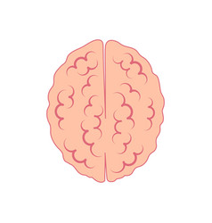brain icon view from above symbol of reason and vector image