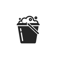 bucket water icon isolated pail or vector image