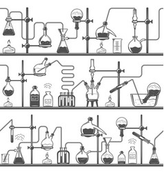 chemistry seamless pattern with formulas and vector image