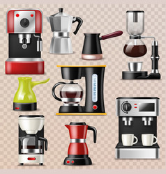 Coffee machine coffeemaker and coffee vector