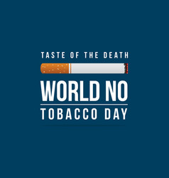 Collection stock no tobacco day vector