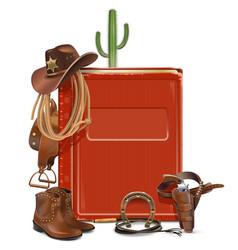 Cowboy Book vector