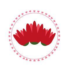 Cute floral frame decorative vector