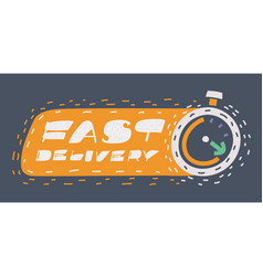 fast shipping delivery icon vector image