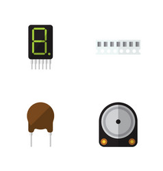 Flat device set of display hdd triode and other vector