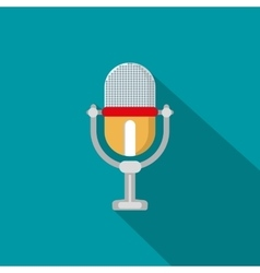 Flat modern design with shadow icon microphone vector image