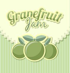 grapefruit jam label in retro style on striped vector image