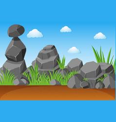 gray stones in garden vector image