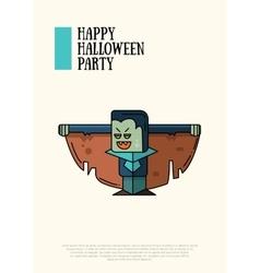 Halloween line flat design modern vector image