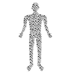 Hammer man figure vector
