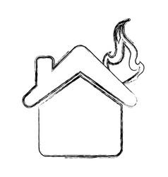 Home insurance symbol vector