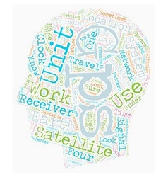 How GPS Receivers Work text background wordcloud vector