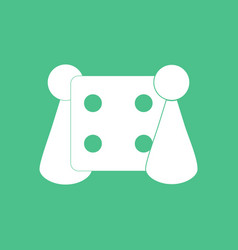 Icon board game and dice vector